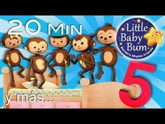 Cinco monitos + Cinco patitos + Cinco gatitas   Y más canciones infantiles   LittleBabyBum! - YouTube Finger Plays, Kids Songs, Little Babies, Youtube, Nursery, Learning, Rose, Happy, Videos