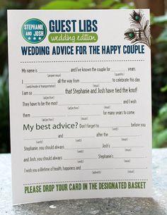 Wedding Shower Idea - Guest Libs
