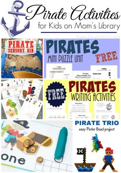 Put together a fun pirate theme unit for your preschooler with the features from this week's Mom's Library link up!