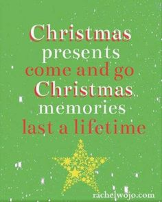 So true! I love hanging with family and the memories we make every Christmas!!!!