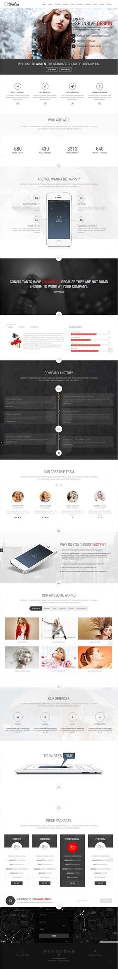 Wisten – WordPress One Page Parallax Theme #html5themes #wordpressthemes #responsivedesign #responsivewordpressthemes