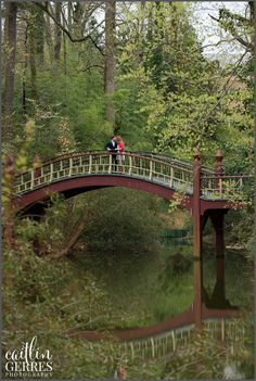 Crim Dell Bridge on William and Mary campus in Williamsburg for Engagement Session Photos