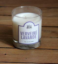 Bougie Parfumée Verveine Lavande - La Belle Mèche Moka, Candle Jars, Candles, Caramel, Retro Aesthetic, Sweet Home, Lights, Glass, Html