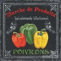 Vintage Food Signs - Featured Images - French Vegetables 3 by Debbie DeWitt Kitchen Art, Kitchen Decor, Kitchen Prints, Kitchen Islands, Prints For Sale, Art For Sale, Vintage Prints, Vintage Posters, Vintage Colors