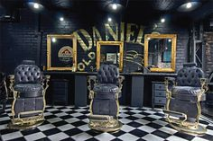 charlemagne-p. View the best mens hairstyles from Charlemagne Premium male. Barber Shop Interior, Barber Shop Decor, Salon Interior Design, Salon Design, American Crew, Vintage Barber, Tattoo Studio, Barbershop Design, Barbershop Ideas