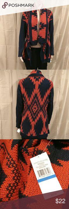 John Paul Richard Jacquard Cardigan New with tag, price is negotiable. Jacquard cardigan, long sleeve. Material is 100% acrylic. John Paul richard Sweaters Cardigans