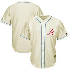 36fee07d6 Atlanta Braves Majestic Cool Base Ivory Fashion Team Jersey - Cream Baseball  Caps
