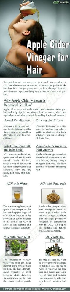 *Apple Cider for hair
