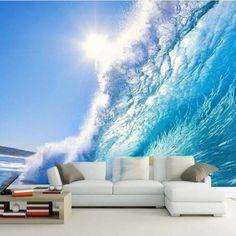 3D Huge Ocean Wave Seascape Design Wallpaper Wall Mural