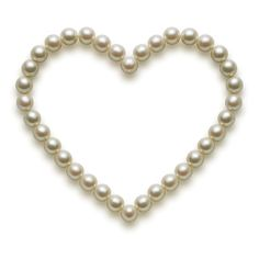 This pearl-strewn heart is easily one of our loveliest emoticons.