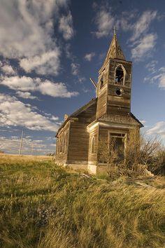 The abandoned Glucksdahl Community Church in North Dakota.