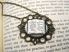 Creativity Necklace Book Jewelry by by Coryographies on Etsy
