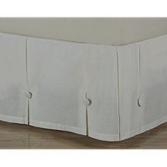 D Kwitman Son Box Pleated With Ons 18 Drop Bed Skirt King Natural
