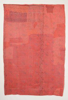 "jurgen-lehl-for-babaghuri-jp: "" ベッドカバー ( 裏 ) リサイクルした綿を手縫い 20世紀後半 ベンガル、インド """