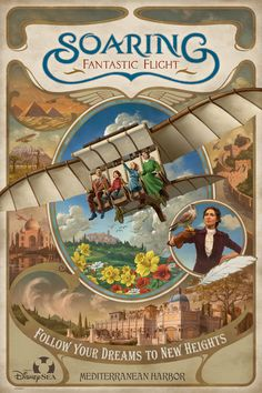Get ready to soar on the newest attraction at a Disney theme park, Soaring: Fantastic Flight, which opened today at Tokyo DisneySea Park. Disney Theme, Disney Love, Disney Art, Disney Pixar, Disney Stuff, Walt Disney, Tokyo Disney Sea, Tokyo Disney Resort, Tokyo Disneyland