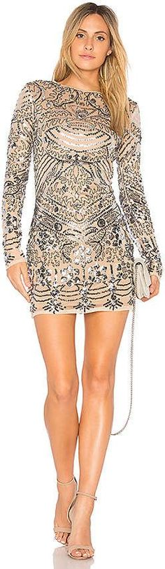 This dress!! I want it!! Endless Rose Sequin Mini Dress in Metallic Silver. affiliate