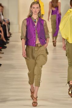 Satin chic at Ralph Lauren's SS15 RTW Collection