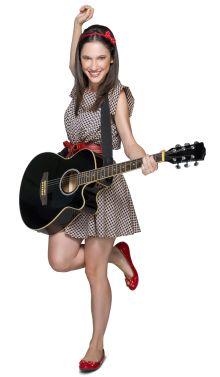 The gitare is like the perfect accessory for her outfit. Violetta Outfits, Bff, Teen Girl Fashion, Star Wars, Disney Stars, Dove Cameron, Disney Films, Her Music, Sofia Carson
