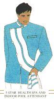 Poolside attendant uniform Corporate Uniforms, Airline Uniforms, Uniform Design, Costume Design, Graphic Art, Costumes, Long Sleeve, Mens Tops, Fashion