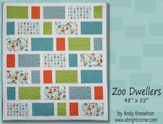 "FREE pattern: ""Zoo Dwellers"" (from Cutting Corners College by Riley Blake Designs)"