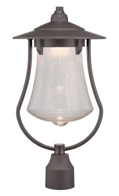 Designers Fountain LED22536 Paxton 1 Light LED Lantern Post Light Aged Bronze Patina Outdoor Lighting Post Lights Post Lights