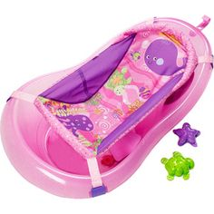 Fisher Price - 3-Stage Pink Sparkles Bath Tub. The sling in this bath tub is…