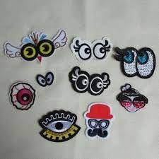 Resultado de imagen para eyes embroidery patch