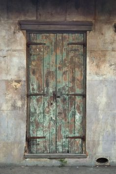 A door at 612 Dauphine St. near Toulouse St. in the French Quarter. New Orleans