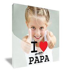"""""""Un tableau imprimé avec la photo que j'adore pour la fête des pères!"""""""