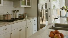 See how functional a galley kitchen can be when everything is within arms' reach.