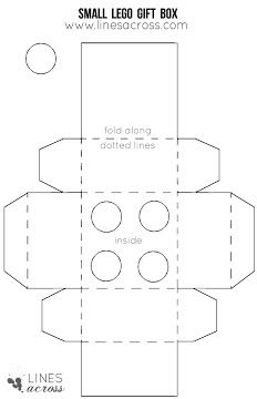 small cube box template christmas decorations and gift giving
