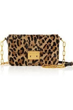 Miu Miu Bandoliera leopard-print calf hair shoulder bag $1,700