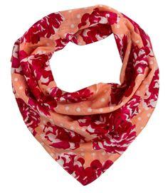 "SIX ""Statement"" Bandana mit Blumemuster in Apricot, Rot, Weiß (356-280): Amazon.de: Bekleidung"