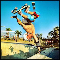 Billy Ruff, Switcheroo, Del Mar Skate Ranch, mid-80s. Photo: Brittain.