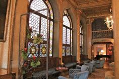 Hotel Danielli Venice Sitting Area in the very large lobby