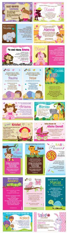 Invitaciones para té de Canastilla, Tarjetas para Baby Showers - Costa Rica