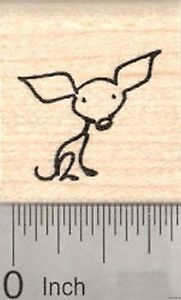 Chihuahua Rubber Stamp, Stick Figure Dog  A21222 WM