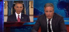 John Stewart rips Obama a new one! (*_~)
