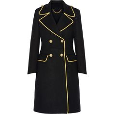 Burberry Prorsum Double-breasted cashmere coat (40 405 UAH) ❤ liked on Polyvore featuring outerwear, coats, burberry, coats & jackets, jackets, burberry coat, military style coat, double breasted military coat, military coat and pure cashmere coat
