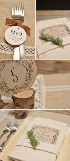 Smitten On Paper |  A Rustic Affair | Table Settings | Small Gathering