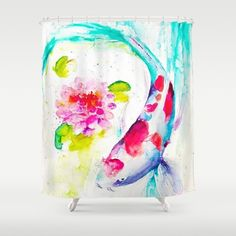 Fish in the pond shower curtain #bestgiftideas #formylovevalentine