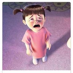 Estoy triste Cute Cartoon Pictures, Cute Cartoon Girl, Cartoon Profile Pictures, Cartoon Pics, Baby Cartoon Characters, Cartoon Memes, Monsters Inc Boo, Disney Phone Wallpaper, Childhood Movies