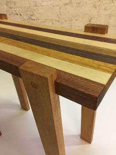 Handcrafted mixed species hardwood occasional table. #sidetable #coffeetable #modernfurniture #contemporarytable