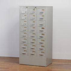 Located using retrostart.com > Cabinet by Unknown Designer for Gispen Filing Cabinet, Vintage Designs, Lockers, Locker Storage, Furniture, Lifestyle, Health, Home Decor, Decoration Home