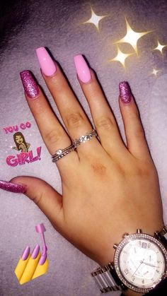Acrylic nails pink coffin glitter baby pink girly, # acrylic # coffin … -… - All For Hair Color Trending Pink Nail Art, Summer Acrylic Nails, Best Acrylic Nails, Summer Nails, Baby Pink Nails With Glitter, Pink Acrylics, Pink Summer, Turquoise Acrylic Nails, Baby Pink Nails Acrylic