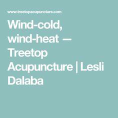 Wind-cold, wind-heat — Treetop Acupuncture | Lesli Dalaba