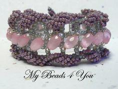 Rosie Dreams, Beaded Cuff Bracelet, Seed Bead Bracelet, Beaded Bracelet, Embellished Bracelet, Beadwoven, Beadwork Bracelet