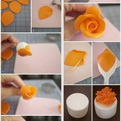 Cute fall party or wedding cake decorating idea. Visit us @ for more cake decor ideas.Cake fondant Flower's Numbering is messed up.How to Make Cake Icing FlowersTort z różami - Swiatciast. Cake art make these for a wedding or even a small simple cu Cake Icing, Fondant Cakes, Eat Cake, Cupcake Cakes, 3d Cakes, Cake Decorating Techniques, Cake Decorating Tutorials, Cookie Decorating, Decorating Ideas