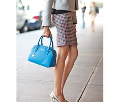 Choose the Perfect Pencil Skirt for Your Body! Pop Your Booty: The slim silhouette flatters curves (snug where you want) without being too tight. Totally SFW. #SelfMagazine