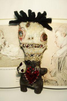 Handmade Art Doll (Voodoo Fabienne)